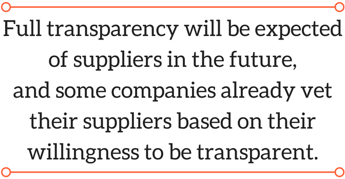 Toxnot quote from Kohler on product transparency