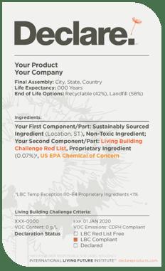 Example Declare Label